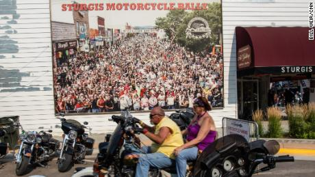 The Sturgis Rally attracts about half a million people on their bikes each year.