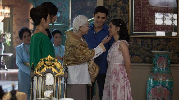"Michelle Yeoh, Gemma Chan, Henry Golding and Constance Wu star in ""Crazy Rich Asians."""