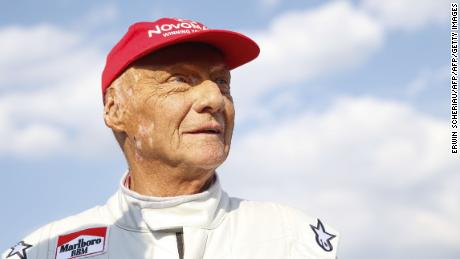 "Lauda attends the ""legends race"" at the racetrack in Spielberg on June 30, 2018, ahead of the Austrian Formula One Grand Prix."
