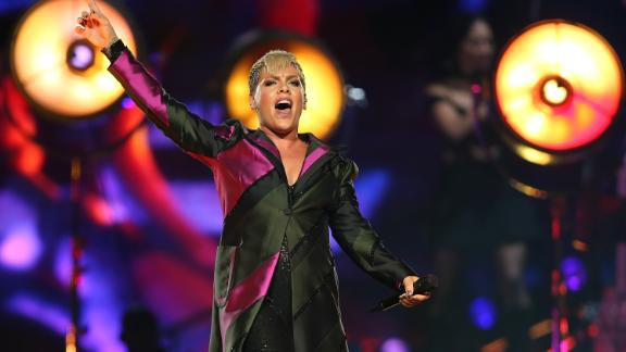 Pink performs on stage at Perth Arena on July 3, 2018 in Perth, Australia.  (Photo by Paul Kane/Getty Images)