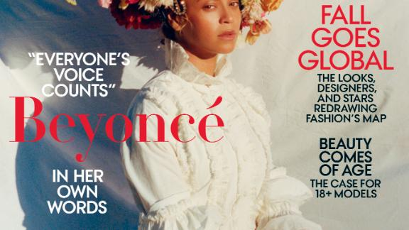 This is not Beyoncé's only cover for Vogue. She was first featured on the cover in 2009 and again in 2013. She was also the September issue cover star in 2015.