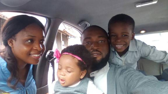 The Blankson family in happier times.