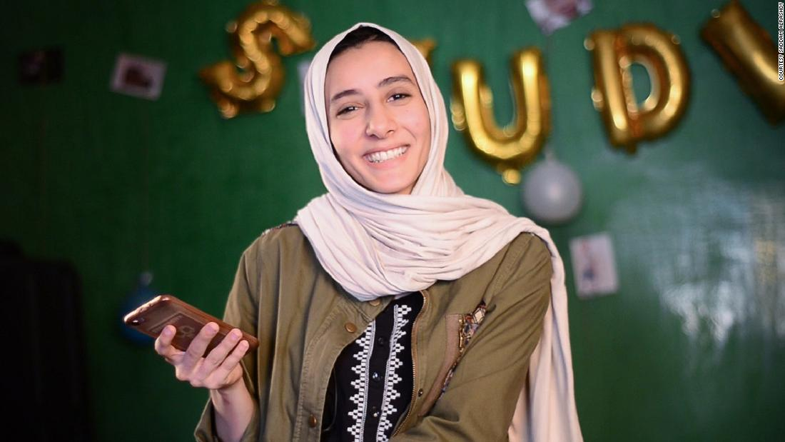 "Fatima Nasser set up the food delivery app Yummy while studying English translation studies at the University of Sabha, Libya. ""Running a business and studying and trying to graduate, it's quite stressful sometimes,"" she says."
