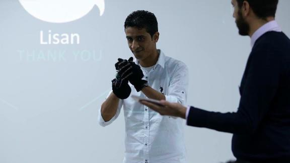 "Lisan, which means ""tongue"" in Arabic, is a system for the deaf that combines a bracelet and a smartphone app to translate sign language into spoken words. Lisan, founded by electrical engineering and marketing graduates, is still in the prototype stages."
