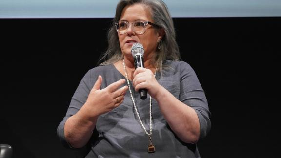 NEW YORK, NY - MAY 08:  Actress Rosie O'Donnell speaks during the Showtime Emmy FYC Screening Of SMILF at The Whitney Museum on May 8, 2018 in New York City.  (Photo by Cindy Ord/Getty Images for Showtime)