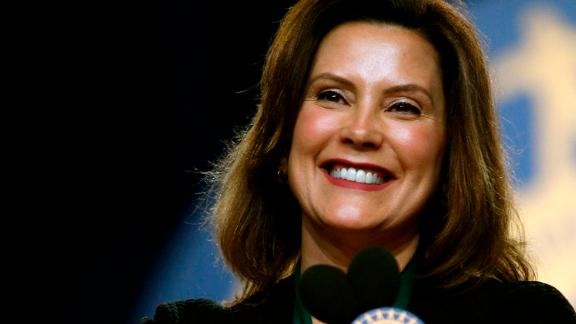 Gretchen Whitmer on the campaign trail in June.