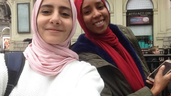 Nasser founded Yummy alongside  Aziza Adam. As winners of the Enjazi Startup competition, they traveled to London -- where they took this selfie -- to visit companies, startup centers, and to meet experts in the field. It was the first time Nasser had traveled outside of the Middle East.