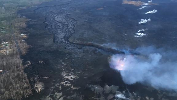 Lava flow from a Hawaii volcano has weakened significantly.
