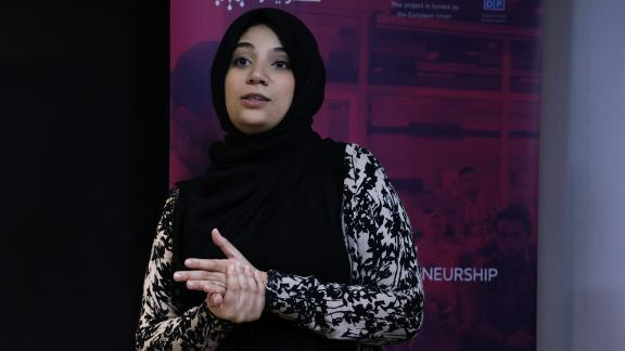 For parents in Libya, a platform called School Connect can prove useful. Co-founded by Tafaha Asheed (pictured), it allows parents to track, monitor and follow up on their children