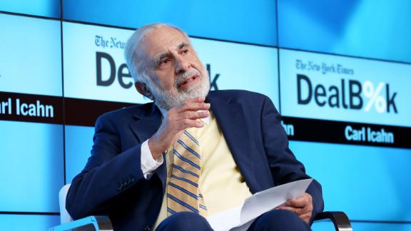 NEW YORK, NY - NOVEMBER 03:  Chairman of Icahn Enterprises Carl Icahn participates in a panel discussion at the New York Times 2015 DealBook Conference at the Whitney Museum of American Art on November 3, 2015, in New York City.  (Photo by Neilson Barnard/Getty Images for New York Times)