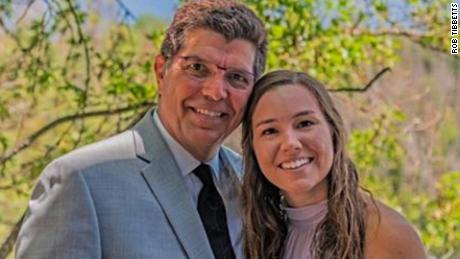 Rob Tibbetts with his daughter Mollie. The body of the 20-year-old college student was found one month after she disappeared during a jogging night