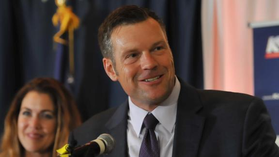 Kobach won a close GOP primary last year only to lose the governor's race in Kansas.