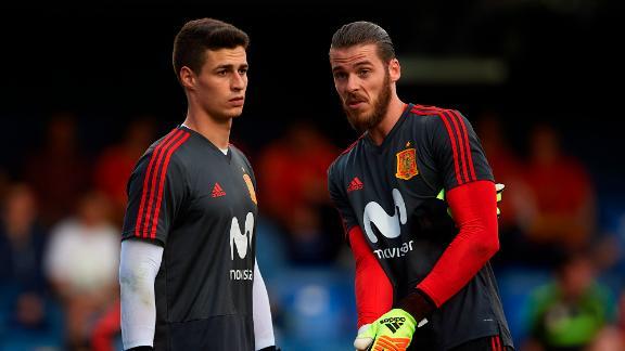 Kepa is behind Manchester United's David de Gea in Spain's pecking order.