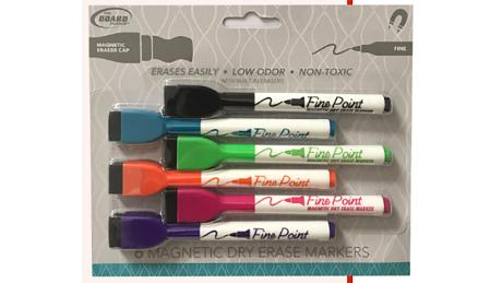The Board Dudes magnetic dry erase markers.