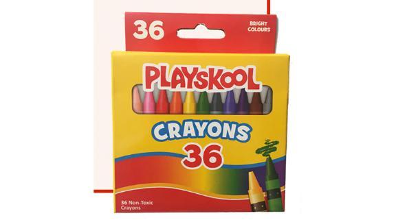 Playskool crayons.