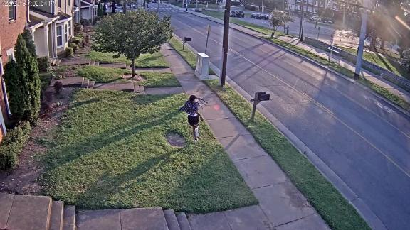 surveillance footage shows Daniel Hambrick running from the scene, and being pursued by Officer Andrew Delke