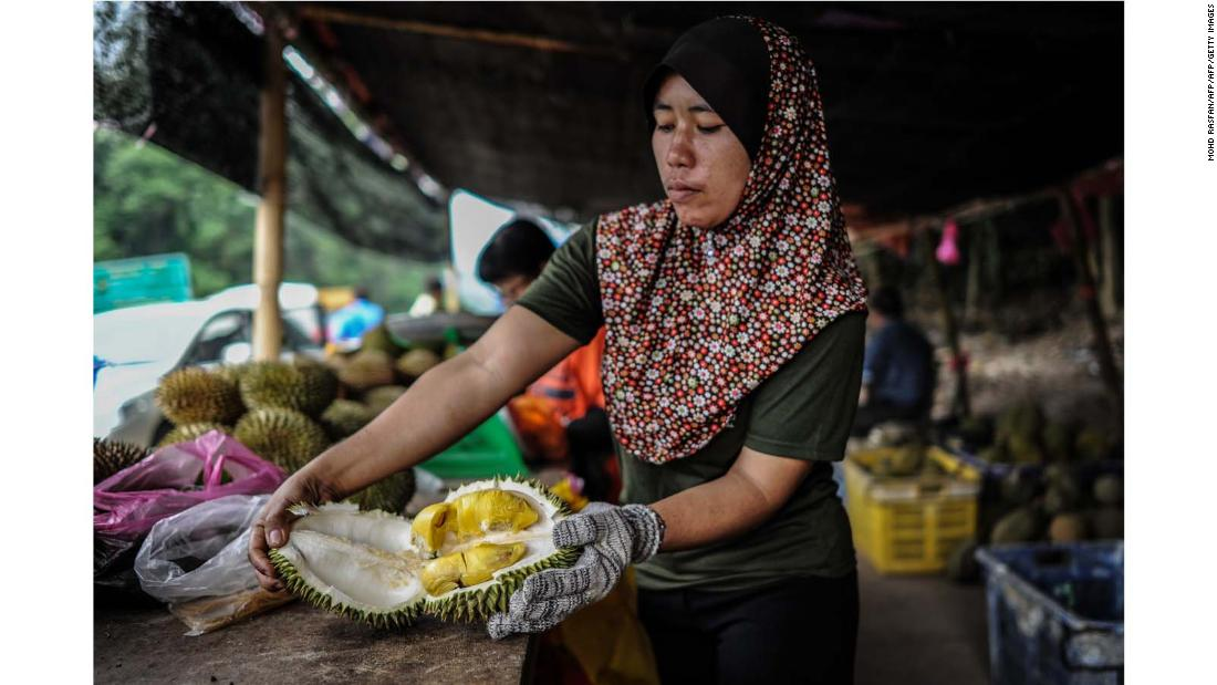 "<strong>On the trail: </strong>""(While traveling), I started noticing that there was this kind of obsession on durian, a fixation on durian, more than any other fruit ... People would travel from all over the world just to eat this one kind of fruit,"" 29-year-old Gasik tells CNN Travel."