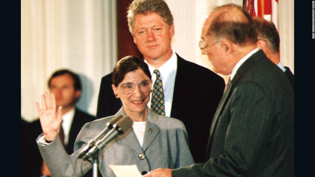 Watch Justice Ginsburg get sworn in - CNN Video