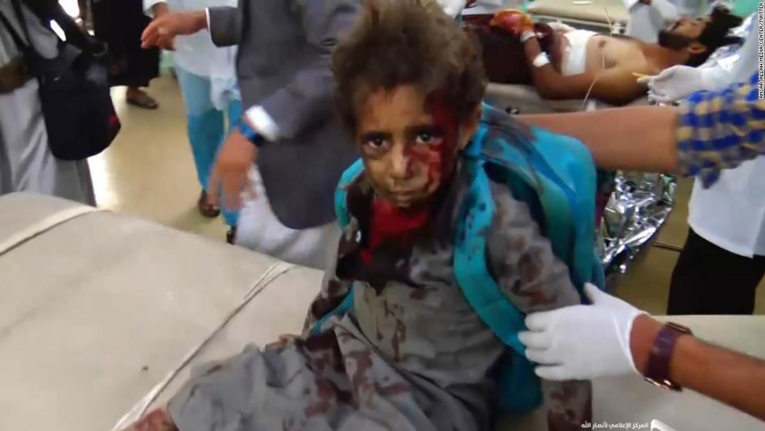 Dozens dead after school bus hit by airstrike - CNN Video