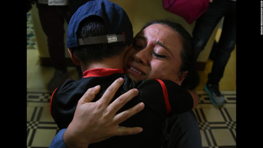 "Lourdes de Leon hugs her 6-year-old son, Leo, after they were reunited in Guatemala City on Tuesday, August 7. Nine Guatemalan children <a href=""https://www.cnn.com/interactive/2018/08/politics/guatemala-family-reunions-cnnphotos/index.html"" target=""_blank"">were reunited with their parents</a> Tuesday, months after they had been separated at the US border as part of the Trump administration's ""zero-tolerance"" immigration policy. The parents were among hundreds of migrants <a href=""https://www.cnn.com/2018/07/27/politics/deported-parents-search/index.html"" target=""_blank"">who had been deported without their children.</a>"