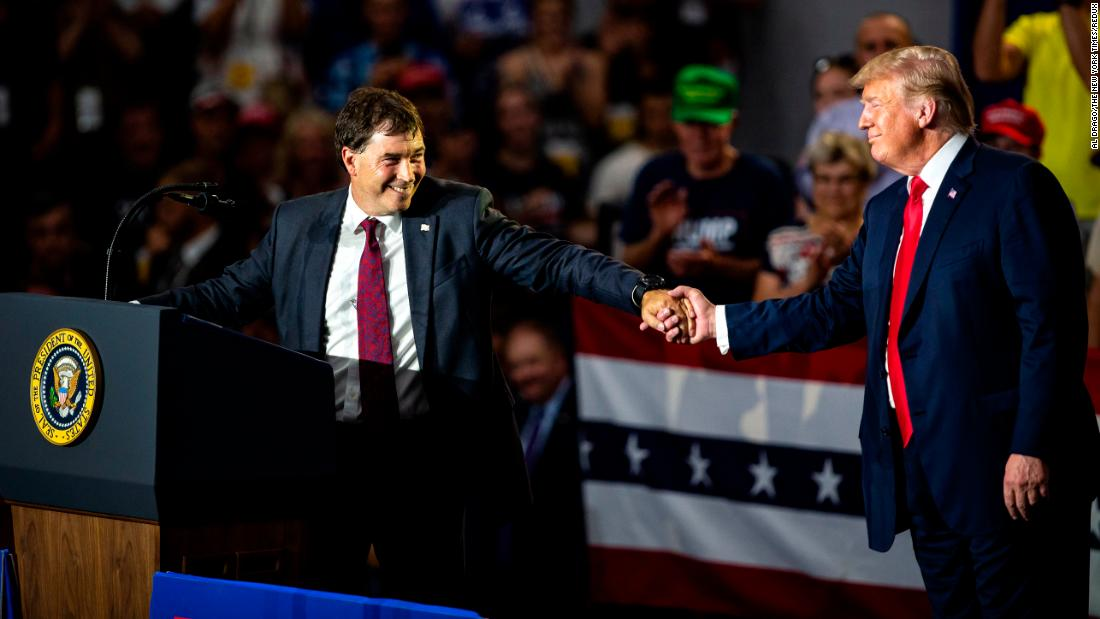 "US President Donald Trump <a href=""https://www.cnn.com/2018/08/04/politics/trump-ohio-special-rally/index.html"" target=""_blank"">attends a rally</a> in Lewis Center, Ohio, with congressional candidate Troy Balderson on Saturday, August 4. Balderson <a href=""https://www.cnn.com/2018/08/07/politics/primary-elections-ohio-special-kansas-michigan-missouri/index.html"" target=""_blank"">had a narrow lead</a> over Democrat Danny O'Connor in a special election that was too close to call Tuesday night. The Ohio secretary of state reported there are 8,483 outstanding absentee and provisional ballots left to count -- much more than Balderson's 1,754-vote lead."