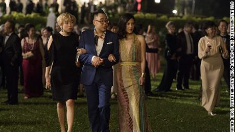 "Awkwafina, Nico Santos and Constance Wu star in ""Crazy Rich Asians."" Sanja Bucko/Warner Bros. Entertainment Inc./RatPac-Dune Entertainment LLC"