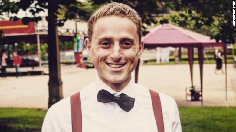 Student Sam Anton is pictured at Durham University in June.