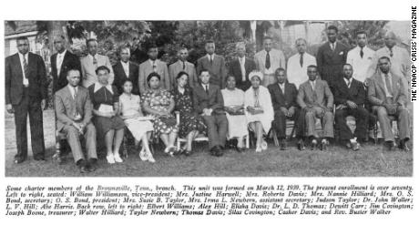 A 1940 photo of the founding members of the NAACP Brownsville, Tennessee branch includes Elbert Williams on the far left.