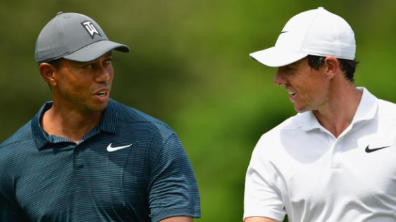 Woods was playing with Rory McIlroy and Justin Thomas. Like Woods, McIlroy finished on a level-par 70, while Thomas was one under.