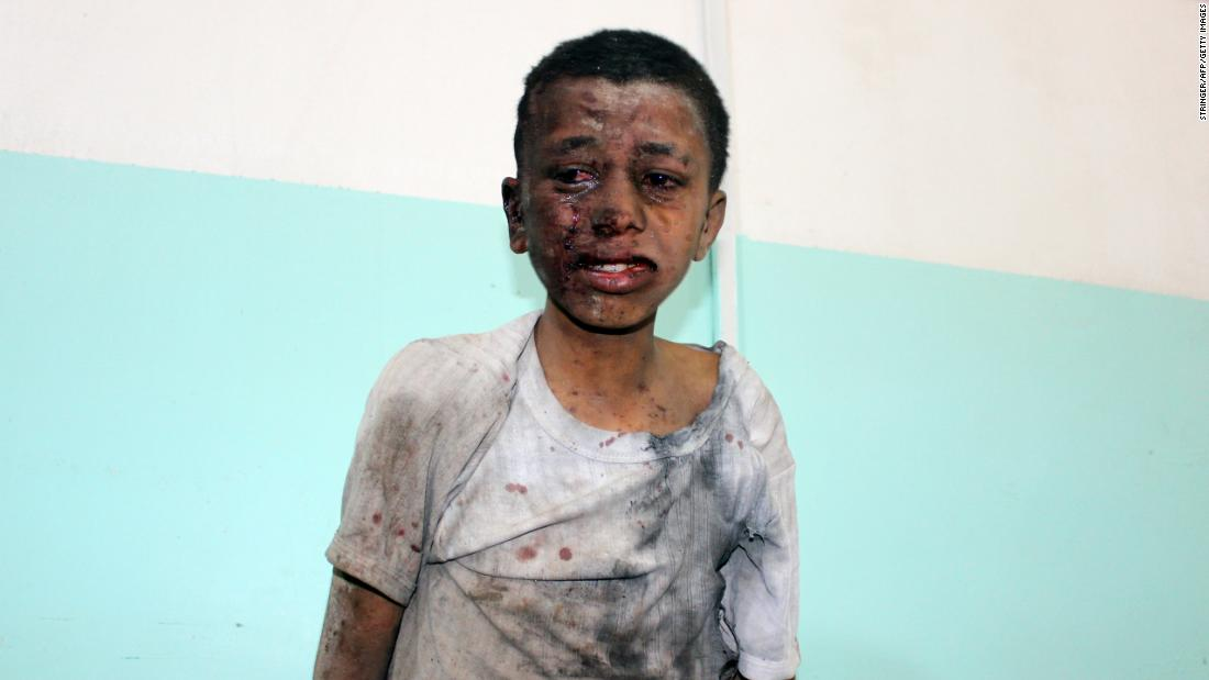 The schoolboys in Yemen were chatting and laughing. Then came the airstrike