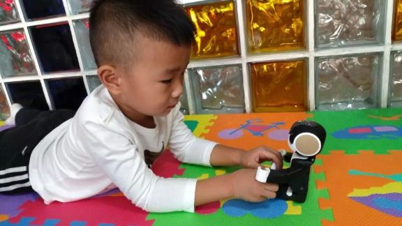 RoBoHon, a robot powered by AI system customized for children, has been used in a children