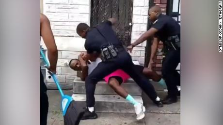 Video of Baltimore officer beating a man leads to cop's resignation