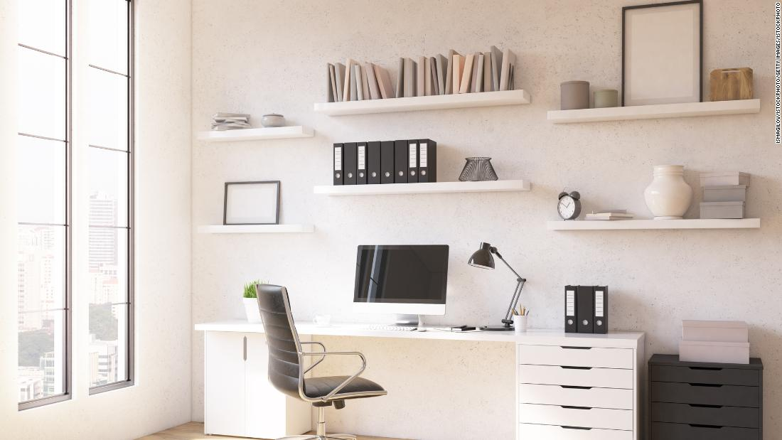 Standing Desks Shelving Units And Office Chairs These