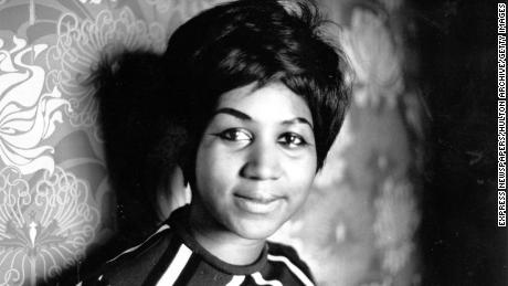 American soul singer Aretha Franklin, a star on the Atlantic record label.   (Photo by Express Newspapers/Getty Images) 1968