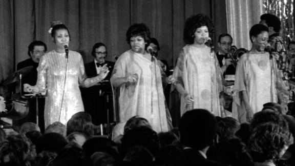 Franklin, far left, performs at Jimmy Carter