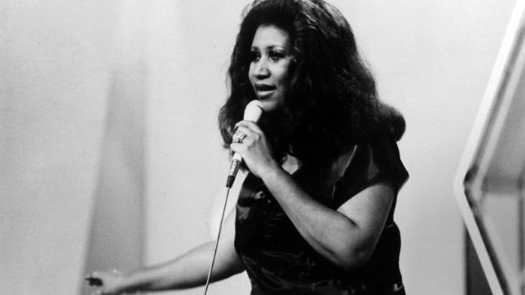 Franklin on stage in 1980.