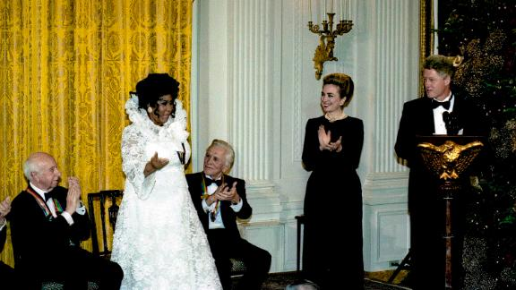 Franklin became the youngest Kennedy Center Honors Awards recipient in 1994.