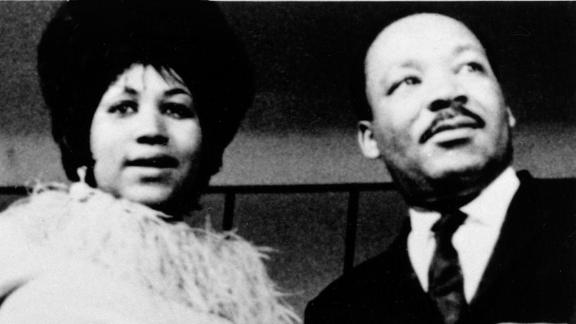 Franklin photographed with Dr. Martin Luther King, Jr. in the late 1960