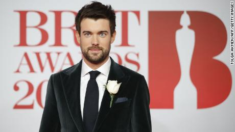 British Comedian Jack Whitehall Poses On The Red Carpet On Arrival For The Brit Awards 2018