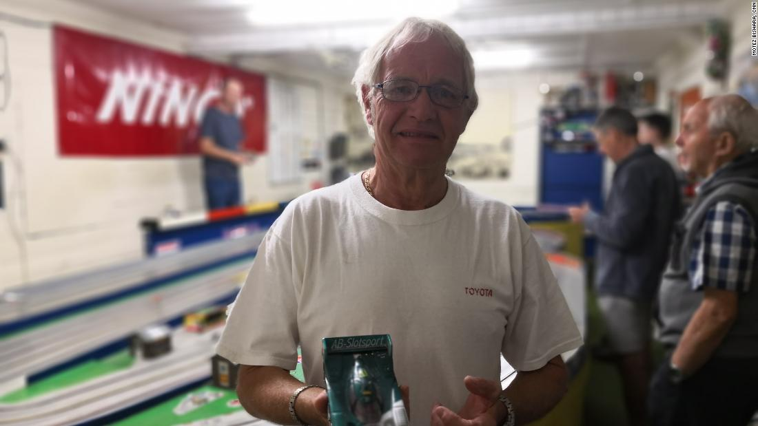 Finchley club member John Ovens turned his son Michael onto slot cars at an early age. Michael eventually became a champion in two divisions, but dropped the sport when he got older. Most British slot car racers are over 50 years old, leading to concerns that their sport is headed towards extinction.