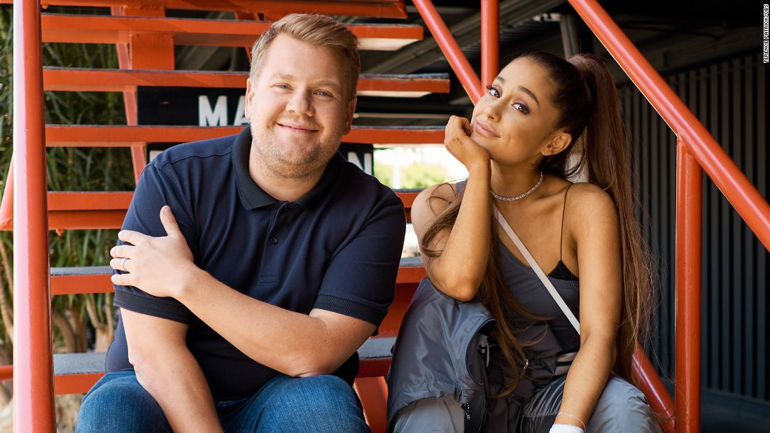 Ariana Grande and James Corden's musical ode to 'Titanic' is an ocean of emotion