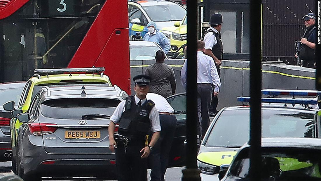 London crash being treated as terror incident, police say