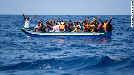 The search-and-rescue ship Aquarius rescued migrants off the coast of Libya on August 10.