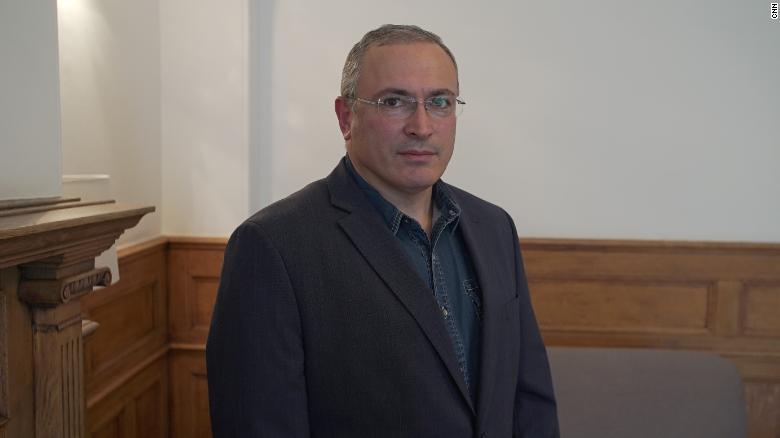 Mikhail Khodorkovsky spoke to CNN from his offices in London.