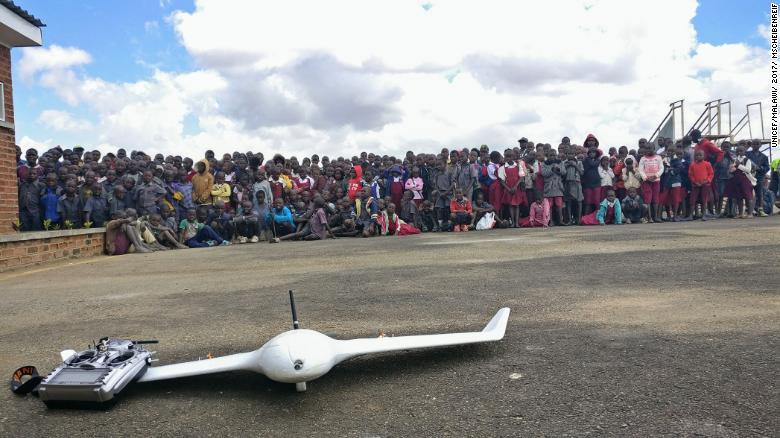 Drone testing in Malawi.