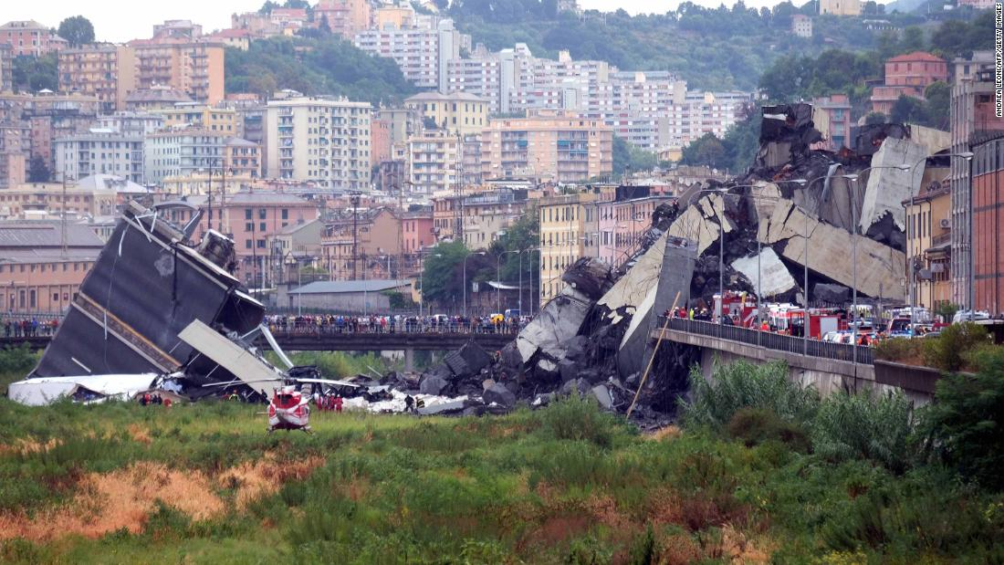 At least 22 killed in Italian bridge collapse