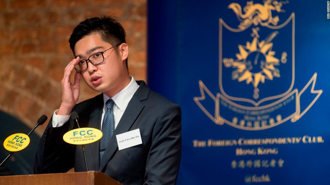 Hong Kong independence talk held amid protests