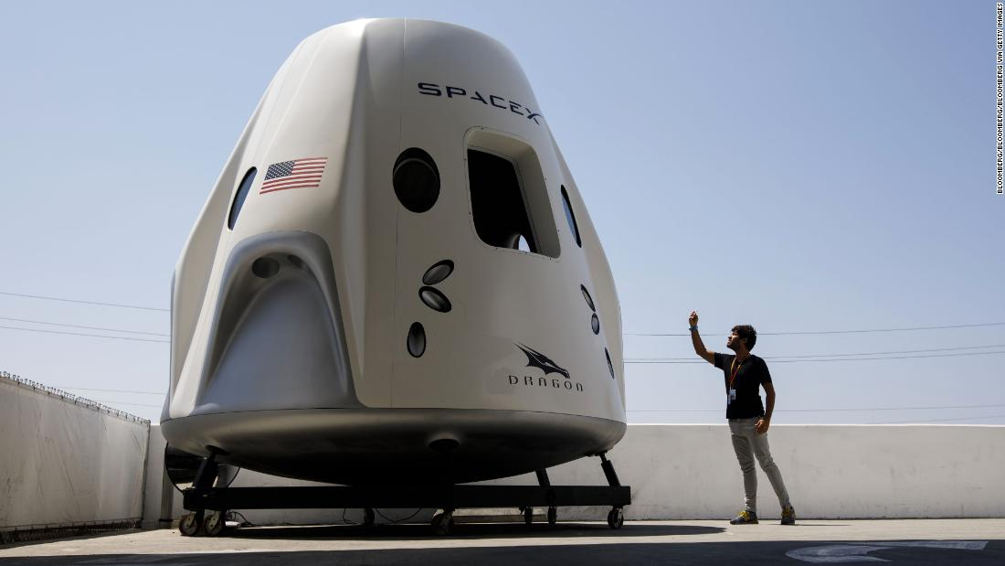 First look inside SpaceX Crew Dragon
