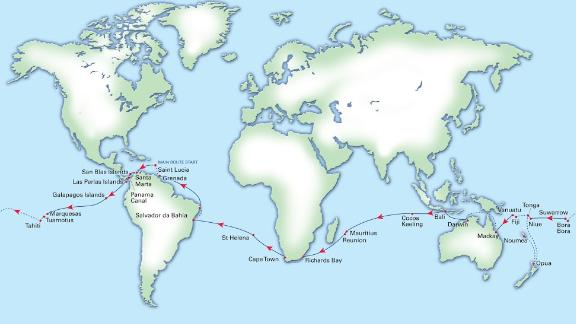 The World ARC, organized by the  World Cruising Club, was born out of the first-ever ocean crossing rally held in 1986. It follows classic tradewind routes, which avoids storm seasons in both hemispheres and bypass regions prone to piracy or political instability.