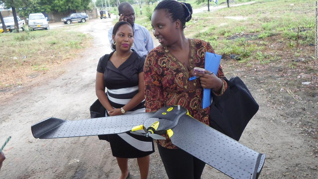 "Community-based project <a href=""http://ramanihuria.org/"" target=""_blank"">Ramani Huria</a> uses drones to capture high resolution imagery of previously unmapped areas in Dar es Salaam, Tanzania."